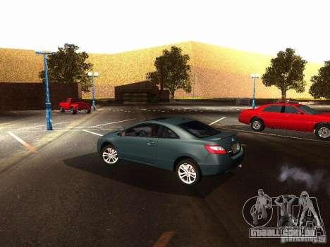 Honda Civic Si 2007 para GTA San Andreas traseira esquerda vista