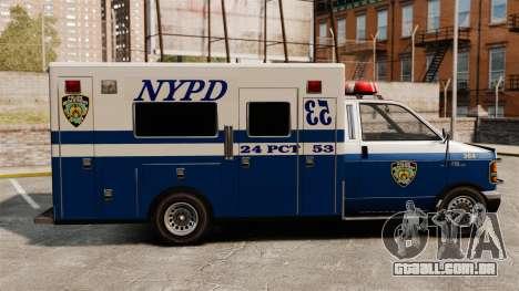 Nova van polícia para GTA 4 esquerda vista