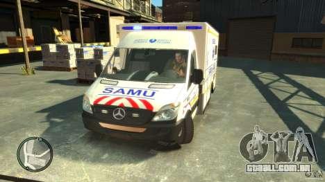 Mercedes-Benz Sprinter Ambulance para GTA 4