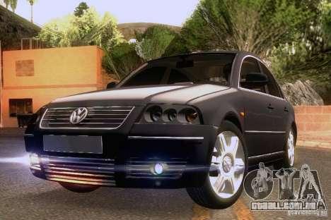 Volkswagen Passat B5 para GTA San Andreas vista inferior