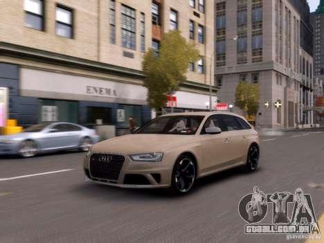 Audi RS4 Avant 2013 para GTA 4 esquerda vista