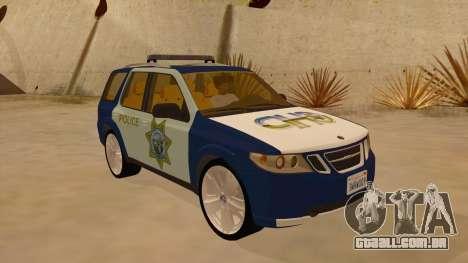 Saab 9-7X Police para GTA San Andreas vista traseira