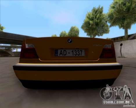 BMW 730i E38 1996 Taxi para GTA San Andreas vista traseira