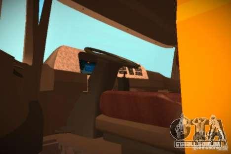 Mercedes Benz Actros Basura IM Santiago para GTA San Andreas vista traseira