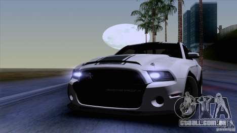 Ford Shelby GT500 Super Snake para GTA San Andreas vista interior
