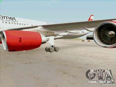 Airbus A-340-600 Plummet para GTA San Andreas vista interior
