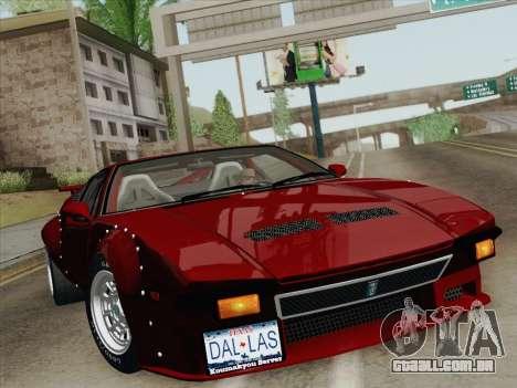 De Tomaso Pantera GT4 para o motor de GTA San Andreas