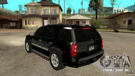 GMC Yukon Unmarked FBI para GTA San Andreas traseira esquerda vista