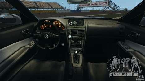 Nissan Skyline GT-R R34 para GTA 4 vista de volta