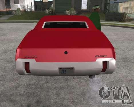 Sabre HD para GTA San Andreas vista direita