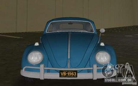 Volkswagen Beetle 1963 para GTA Vice City deixou vista