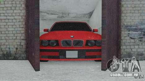 BMW 525i E34 para vista lateral GTA San Andreas
