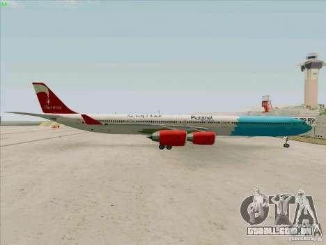 Airbus A-340-600 Plummet para GTA San Andreas vista direita