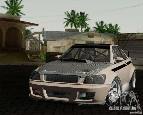 GTAIV Sultan RS FINAL para GTA San Andreas traseira esquerda vista