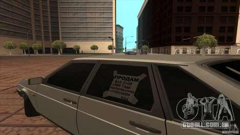 Dreno de 2109 VAZ para GTA San Andreas vista direita