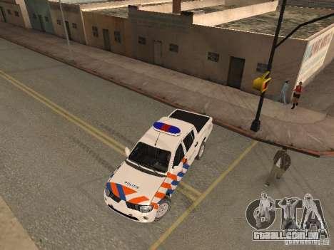 Mitsubishi L200 Police para GTA San Andreas vista direita