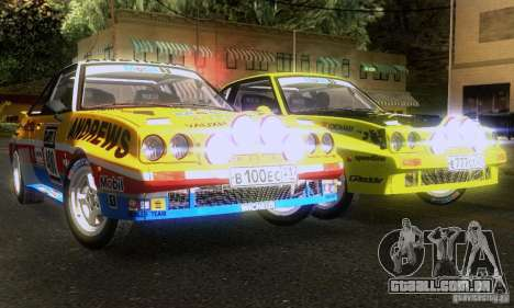 Opel Manta 400 para GTA San Andreas vista interior