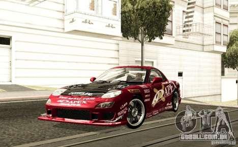 Mazda RX-7 C-West para GTA San Andreas vista traseira