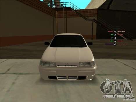 VAZ-2112 para GTA San Andreas vista interior