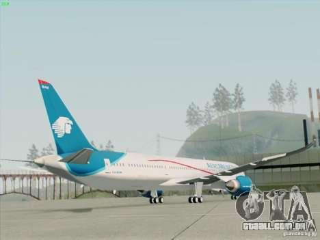 Boeing 787-8 Dreamliner AeroMexico para GTA San Andreas esquerda vista