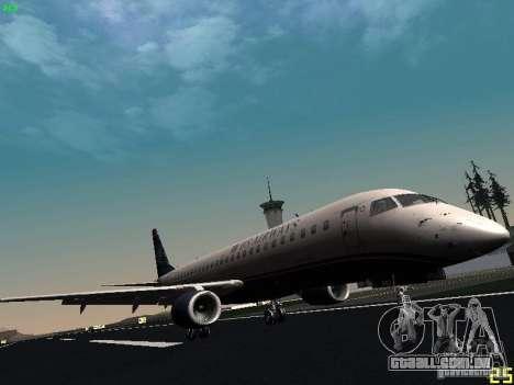 Embraer ERJ 190 USAirways para GTA San Andreas esquerda vista