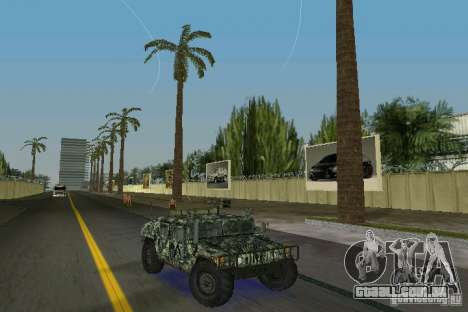 Hummer HMMWV M-998 1984 para GTA Vice City vista traseira