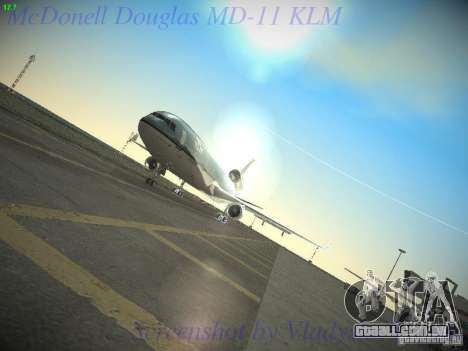 McDonnell Douglas MD-11 KLM Royal Dutch Airlines para vista lateral GTA San Andreas