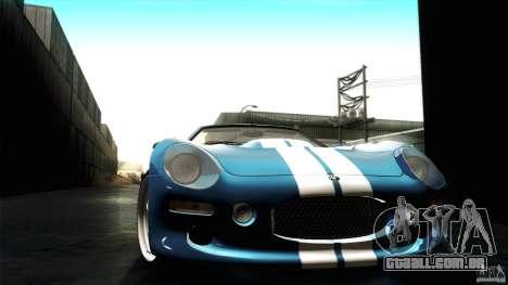 Shelby Series 1 1999 para GTA San Andreas vista interior
