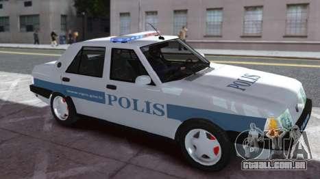 Tofas Sahin Turkish Police ELS para GTA 4 esquerda vista