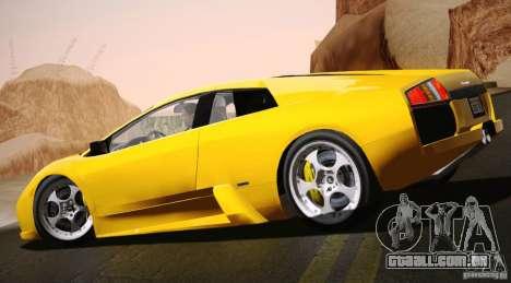 Lamborghini Murcielago 2002 v 1.0 para GTA San Andreas esquerda vista