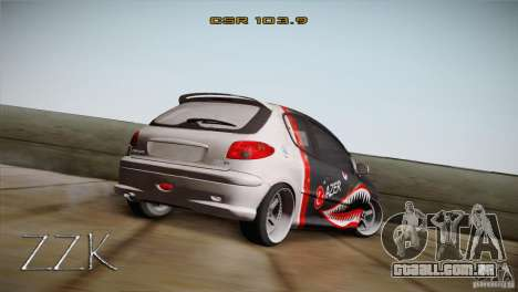 Peugeot 206 Shark Edition para GTA San Andreas esquerda vista