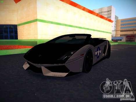 Lamborghini Gallardo LP570-4 Spyder Performante para GTA San Andreas vista superior