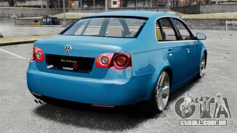 Volkswagen Jetta 2010 para GTA 4 traseira esquerda vista