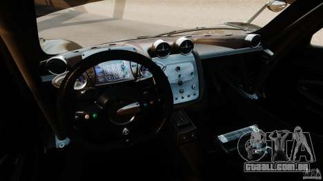Pagani Zonda R 2009 para GTA 4 vista de volta