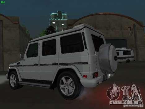 Mercedes-Benz Galendewagen G500 para GTA San Andreas traseira esquerda vista