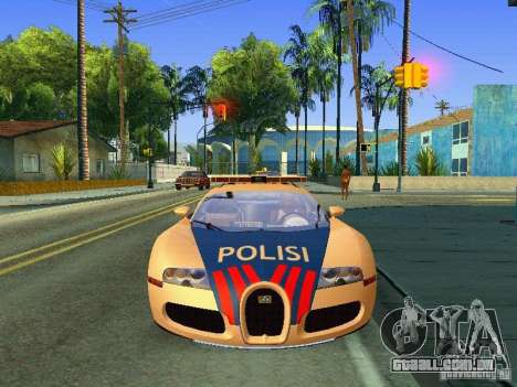 Bugatti Veyron Indonesian Police para GTA San Andreas traseira esquerda vista