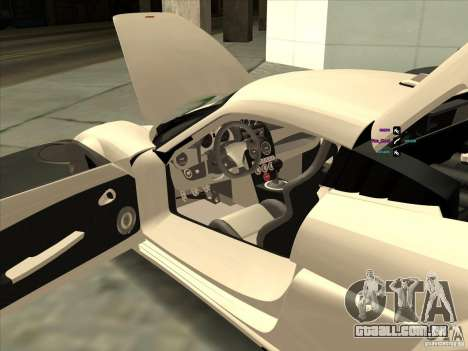 Noble M600 para GTA San Andreas vista interior