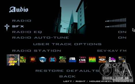 North Cove FM v 1.1 para GTA SA para GTA San Andreas