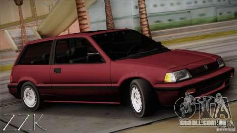 Honda Civic Si Coupe para GTA San Andreas