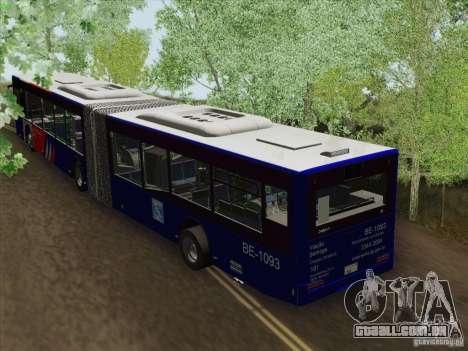 Trailer de Design X3 para GTA San Andreas traseira esquerda vista