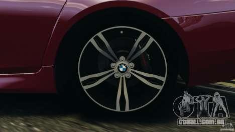 BMW M5 2012 para GTA 4 interior