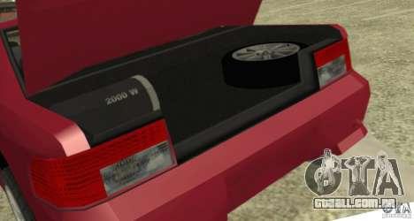 Sultan SRX para GTA San Andreas vista traseira