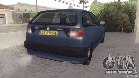 Seat Ibiza GLXI 1.4 1994 para GTA San Andreas vista traseira