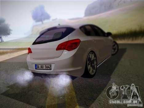 Opel Astra Senner Lower Project para GTA San Andreas traseira esquerda vista