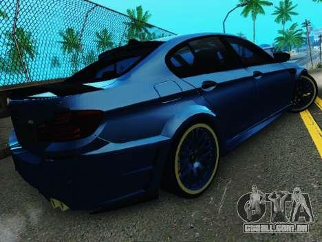 BMW M5 F10 HAMANN para GTA San Andreas vista traseira