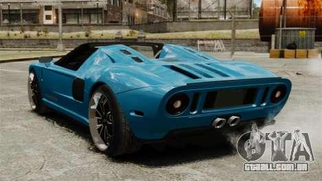 Ford GTX1 2006 para GTA 4 traseira esquerda vista