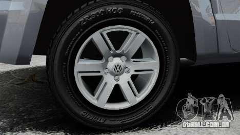 Volkswagen Amarok TDI para GTA 4 vista de volta