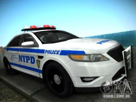Ford Taurus NYPD 2011 para GTA San Andreas traseira esquerda vista