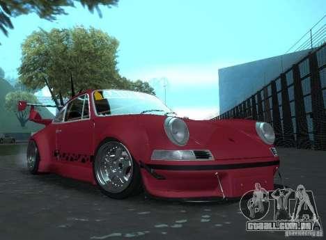 Porsche Carrera RS RWB para GTA San Andreas traseira esquerda vista