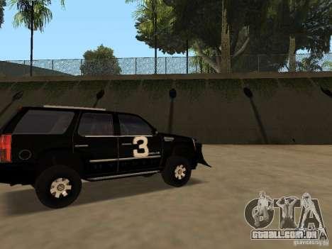 Cadillac Escalade Tallahassee para GTA San Andreas esquerda vista